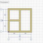 Схема планирования фундамента при строительстве бани