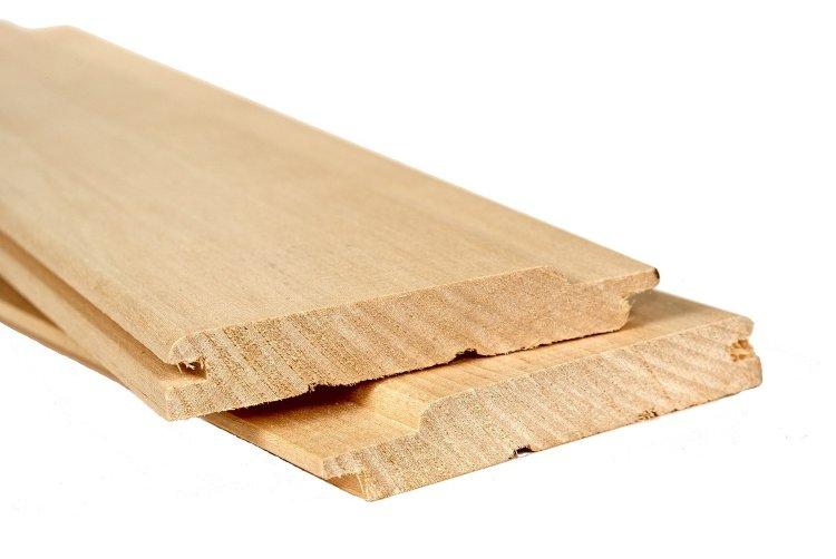 Вагонка изготовленная из осины