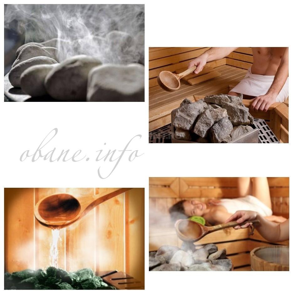 Вода и камни в бане