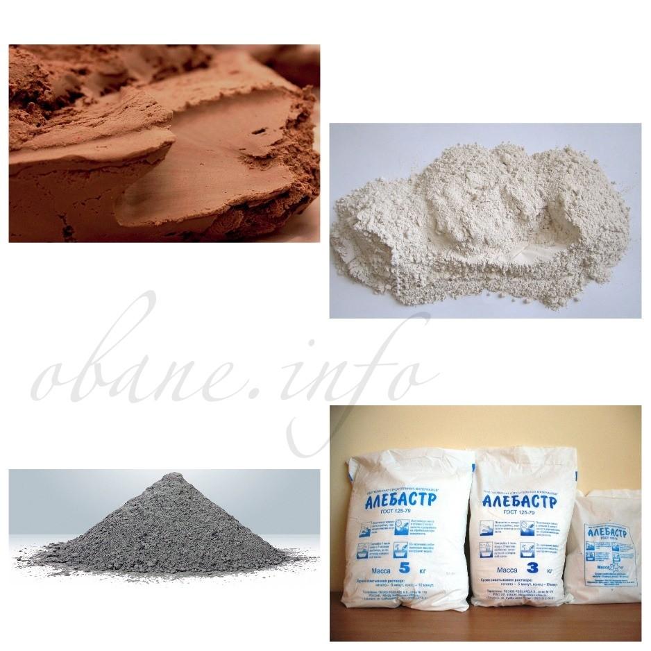 Ингредиенты для приготовления штукатурки