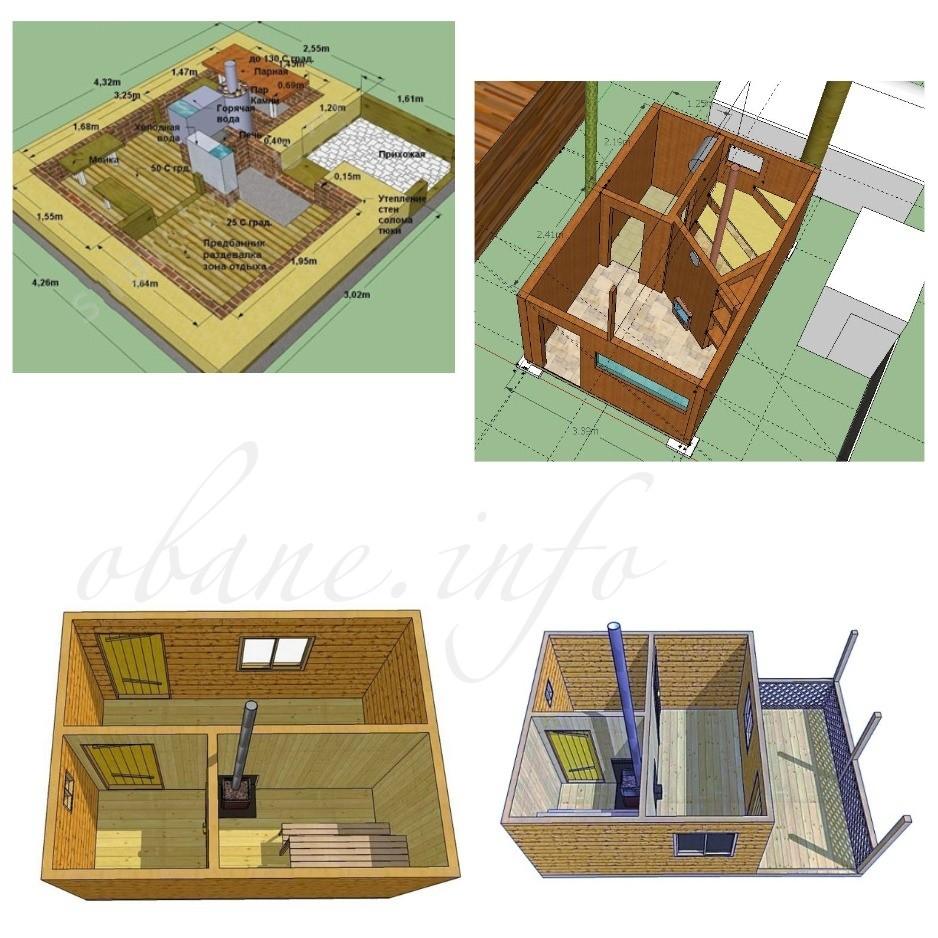 Компактная планировка для бани