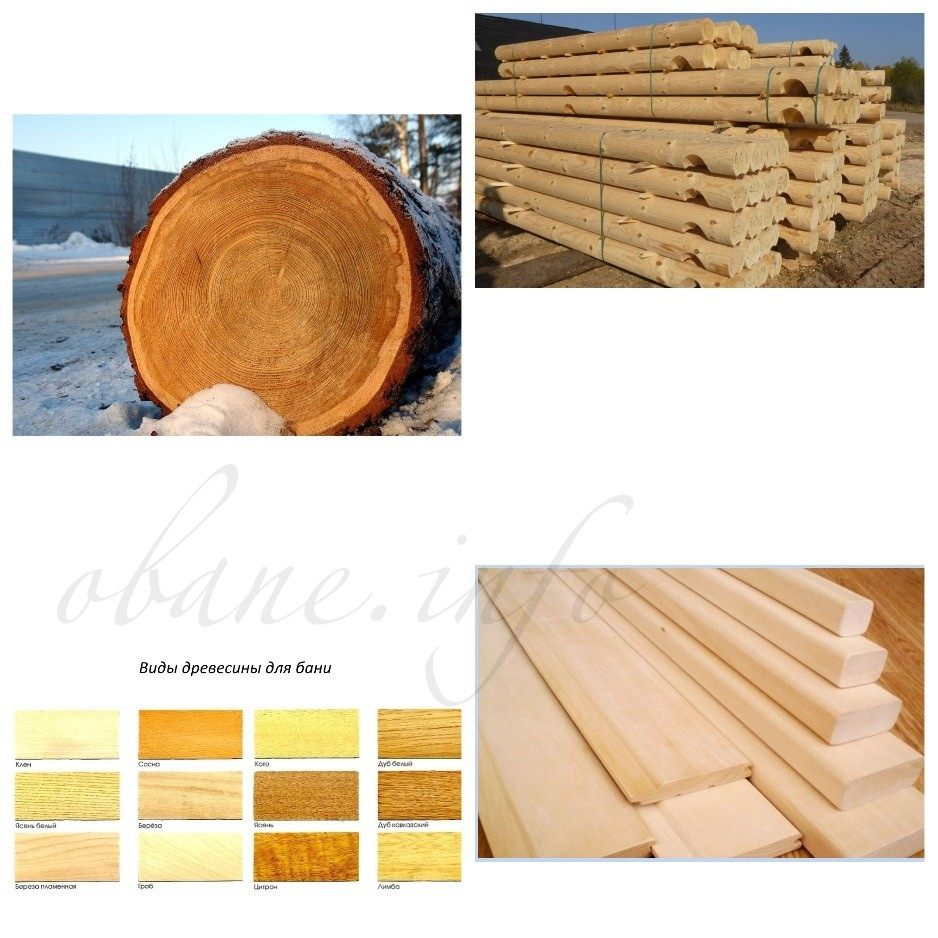 Использование дерева в строительстве бани