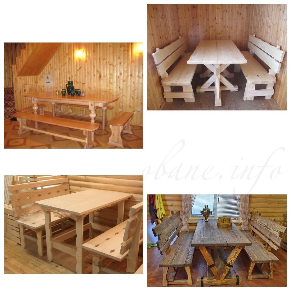 Какие бывают столы из дерева