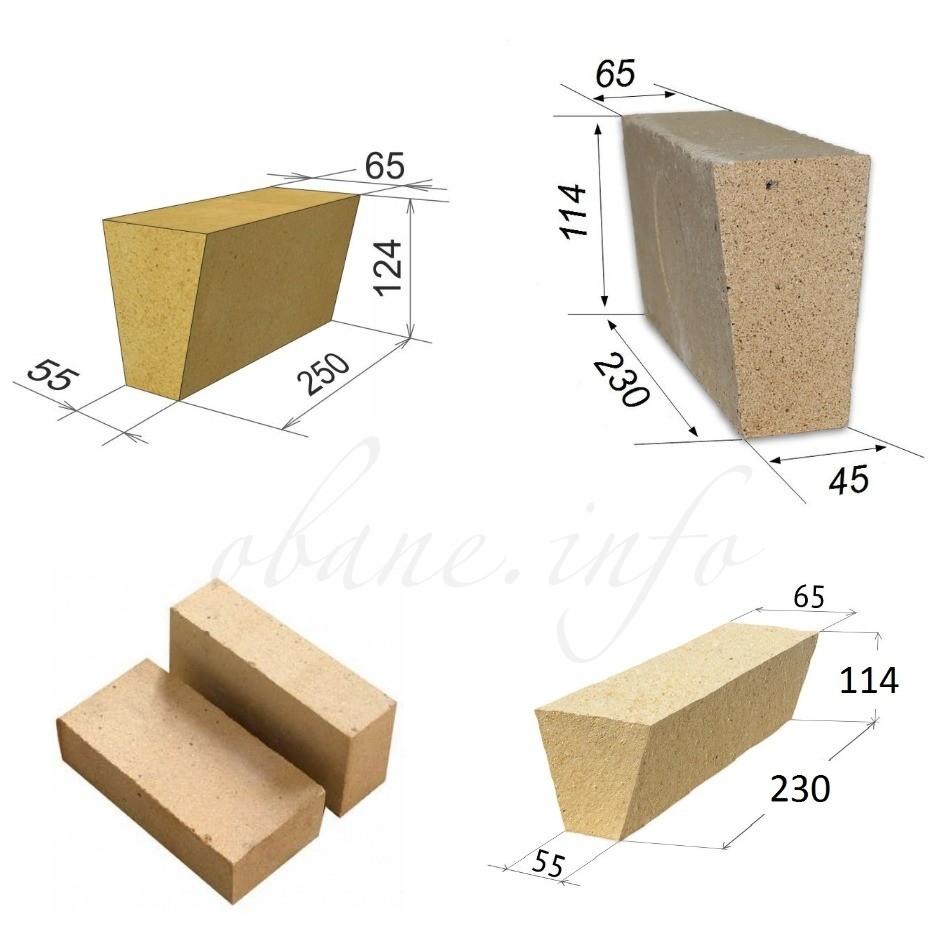Размеры и виды шамотного кирпича