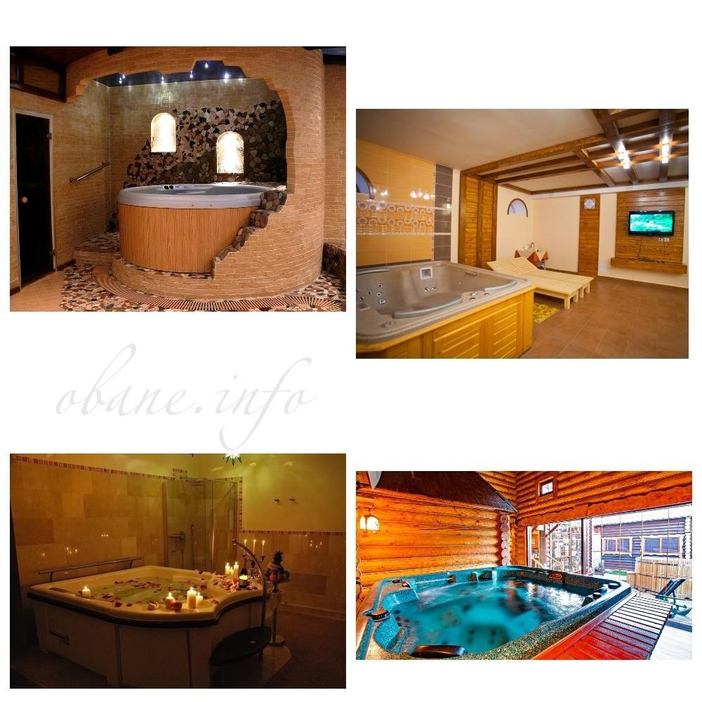 Различные ванны с джакузи