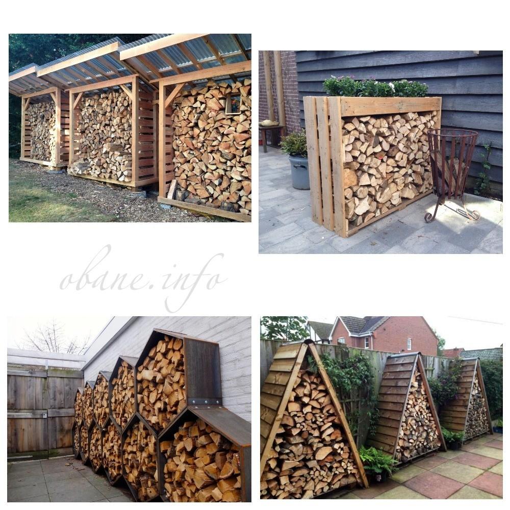 Конструкции разных форм для дров