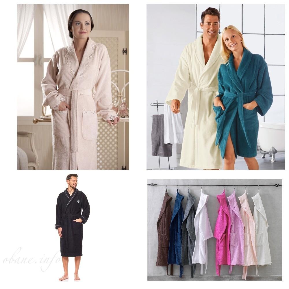 Разновидности банных халатов