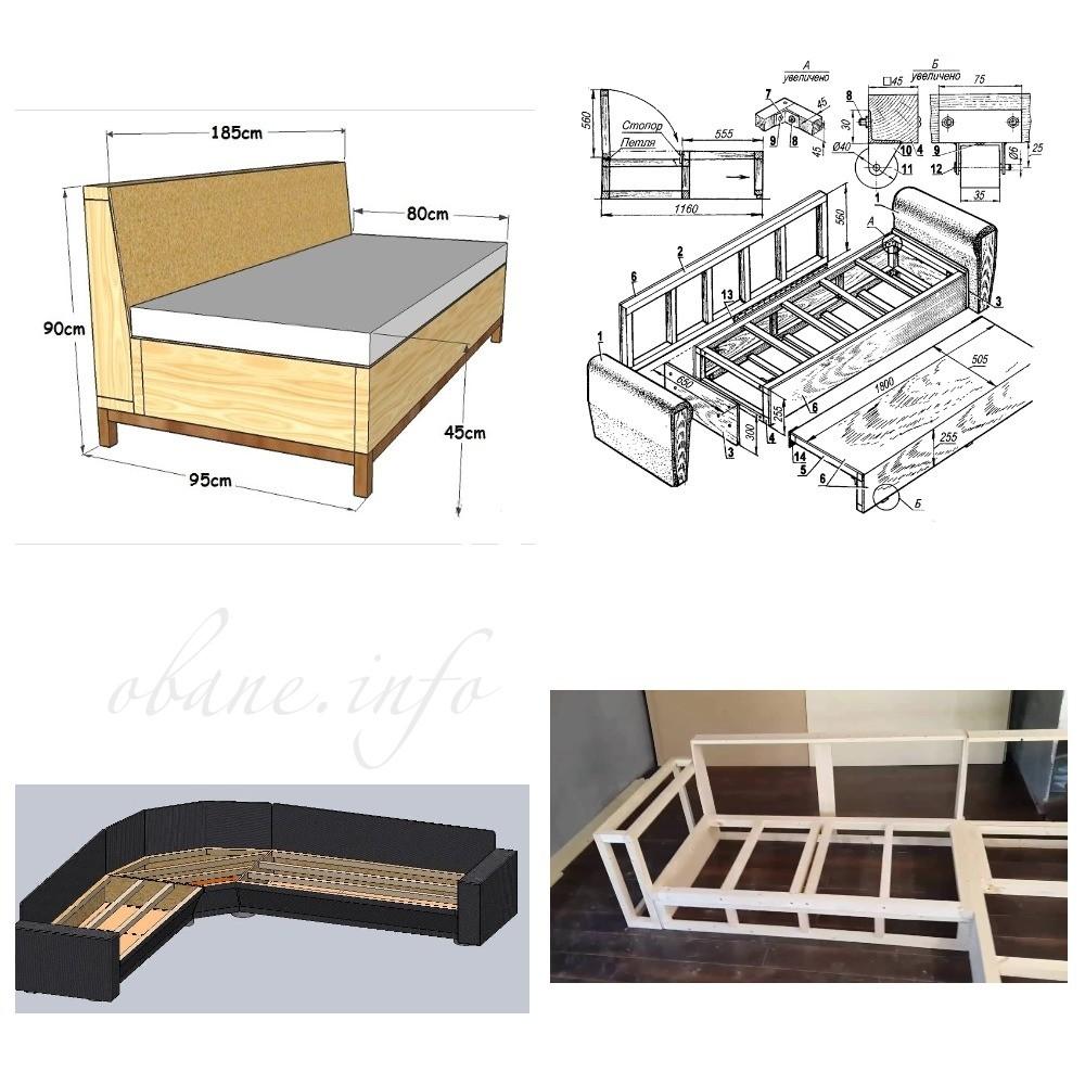 Схема конструкции дивана