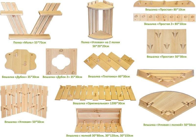 Размеры конструкций
